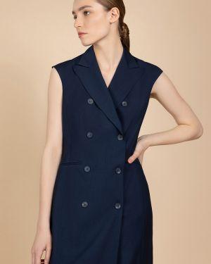 Деловое платье двубортное с лацканами Vassa&co