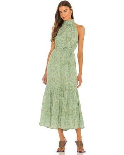 Zielona sukienka długa bawełniana Cleobella