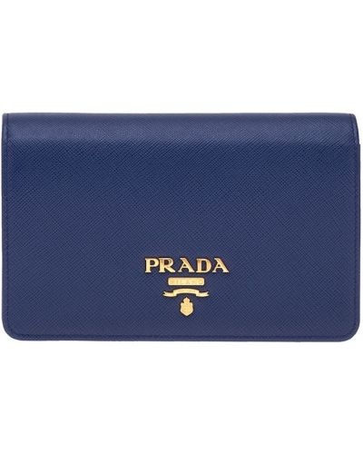 Сумка на цепочке кожаный с тиснением Prada