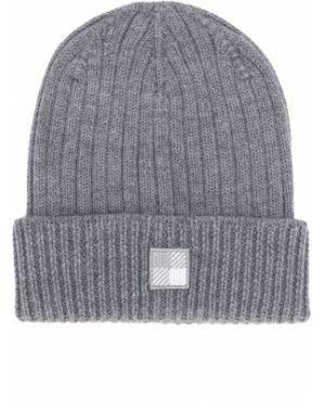 Prążkowana czapka wełniana z haftem Woolrich Kids