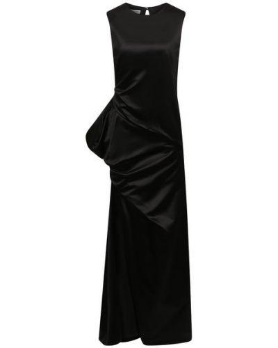 Шелковое платье - черное Dries Van Noten