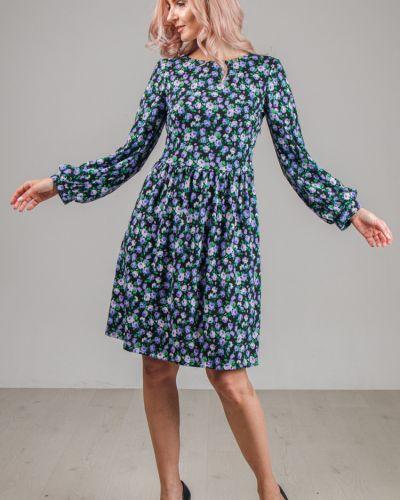 С рукавами приталенное платье на молнии из ангоры Lila Classic Style