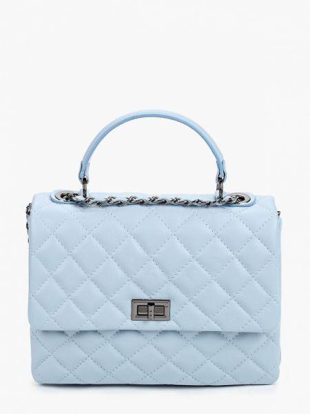 Кожаная сумка - голубая Pulicati