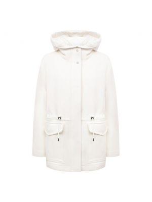 Шерстяная куртка - белая Moorer
