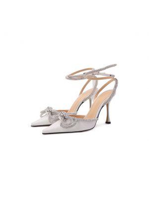 Белые туфли атласные Mach & Mach