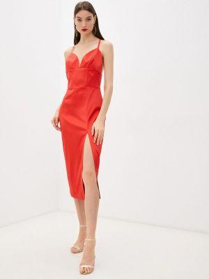 Платье-комбинация - красное Seam