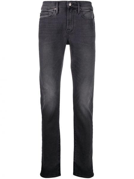 Bawełna bawełna prosto jeansy o prostym kroju z paskiem Frame