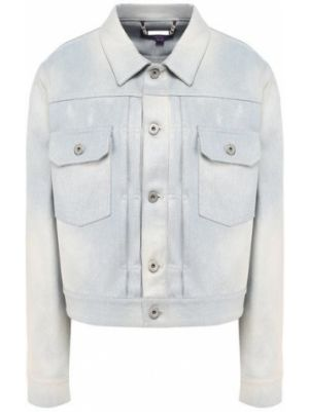Хлопковая синяя джинсовая куртка с поясом Ralph Lauren