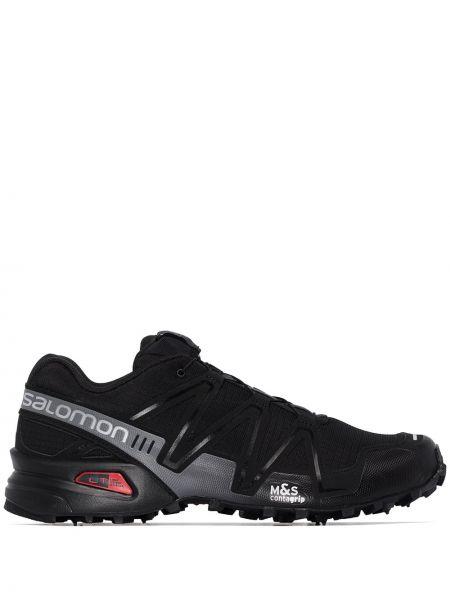 Черные кроссовки на пуговицах Salomon S/lab
