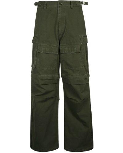 Zielone spodnie Balenciaga