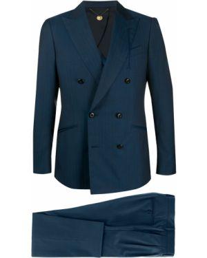 Шерстяной костюмный костюм двубортный на пуговицах Maurizio Miri