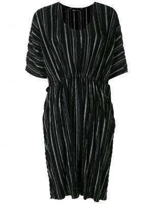 Платье миди в полоску - черное Uma   Raquel Davidowicz