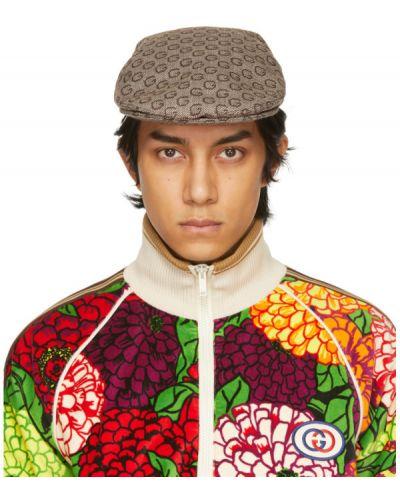 Brązowa czapka wełniana Gucci