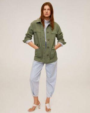 Куртка на пуговицах с карманами Mango