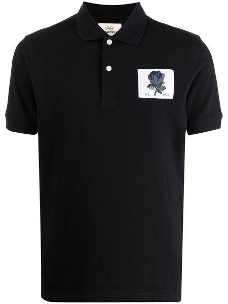 Czarna koszula krótki rękaw Kent & Curwen