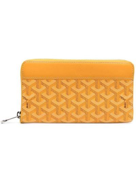Żółty portfel skórzany Goyard