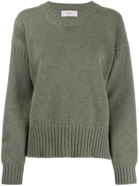 Зеленый кашемировый свитер с круглым вырезом Pringle Of Scotland