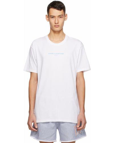 Biały t-shirt krótki rękaw bawełniany Daniel W. Fletcher