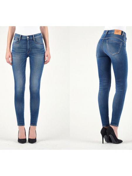 Синие джинсы-скинни с пуш-ап с пайетками с воротником Le Temps Des Cerises