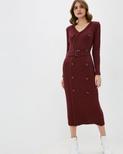 Вязаное красное платье Annborg
