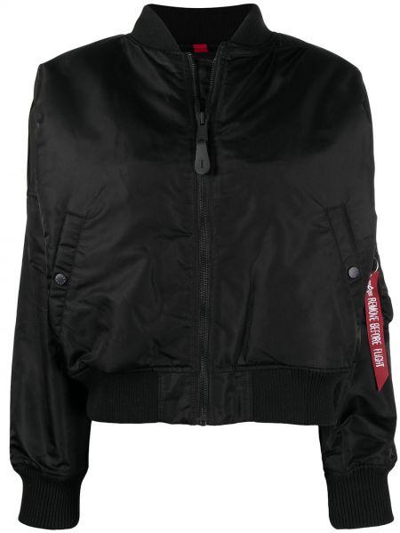 С рукавами черная длинная куртка с карманами Alpha Industries