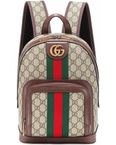Кожаный рюкзак маленький коричневый Gucci