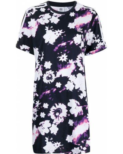 Платье мини в цветочный принт - фиолетовое Adidas