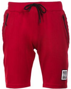 Czerwone szorty materiałowe Multu