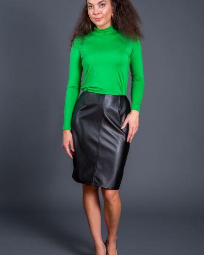 Комбинированная кожаная юбка Belirini