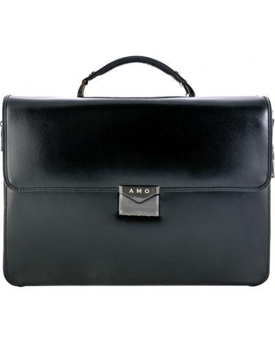 Кожаный портфель - черный Amo Accessori