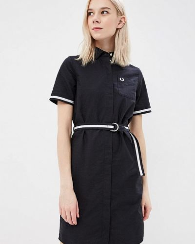 Черное платье рубашка Fred Perry