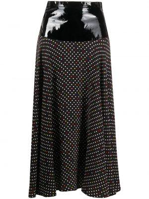 Приталенная юбка миди в рубчик на молнии с поясом Christopher Kane