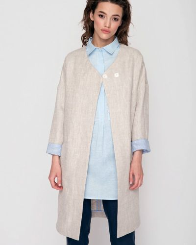 Бежевое пальто весеннее Garmoniya