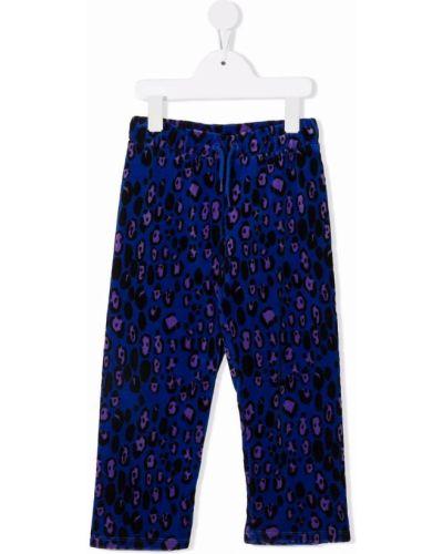Niebieskie spodnie bawełniane Mini Rodini