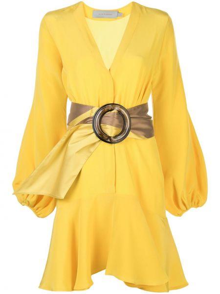 Платье с поясом оверсайз с V-образным вырезом Silvia Tcherassi