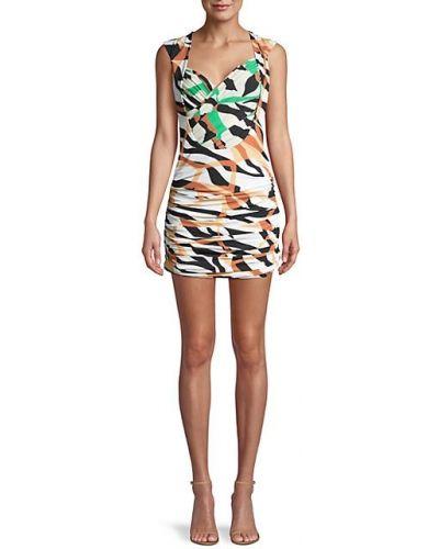Открытое платье мини с оборками с подкладкой Roberto Cavalli