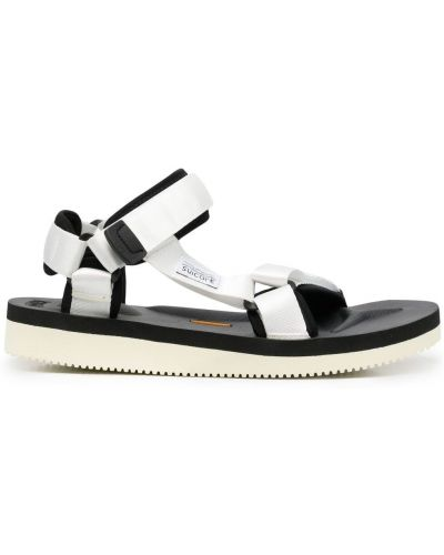 Czarne sandały peep toe z nylonu Suicoke