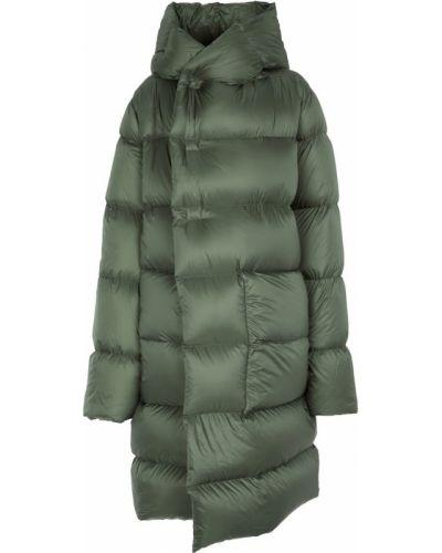 Зеленое стеганое пальто Rick Owens