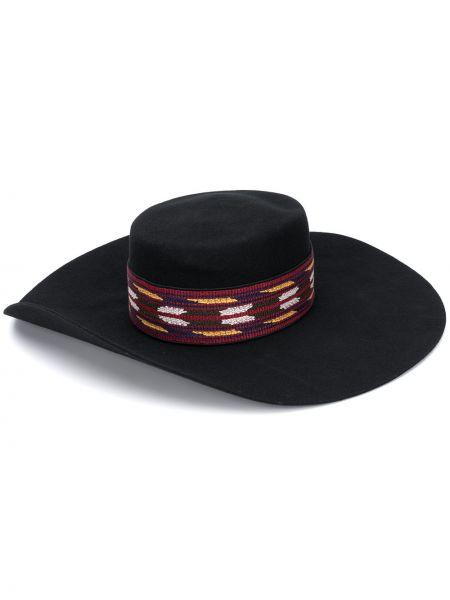 Bawełna wełniany czarny kapelusz Etro