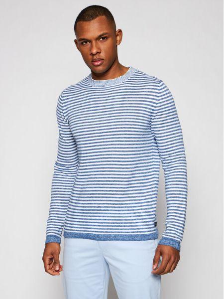 Niebieski sweter Trussardi