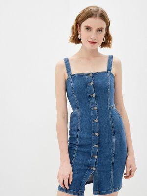Синее джинсовое платье Adl
