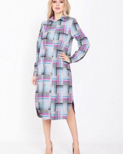 Серое платье-рубашка Magnet