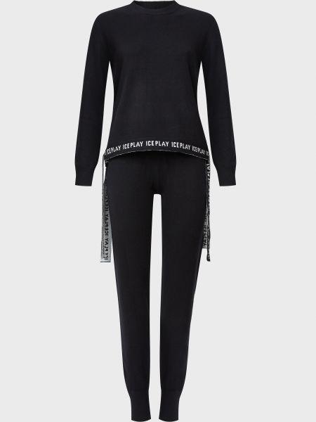 Костюмный шерстяной черный костюм Ice Play