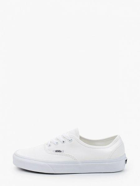 Белые текстильные кроссовки Vans