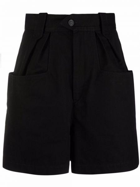 Черные шорты с завышенной талией Isabel Marant étoile