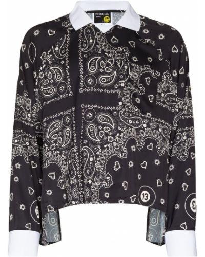 Прямая черная блузка с драпировкой Duoltd