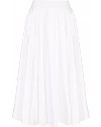 Однотонная хлопковая юбка-миди Weill