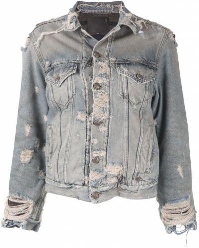 Джинсовая куртка на пуговицах укороченная R13