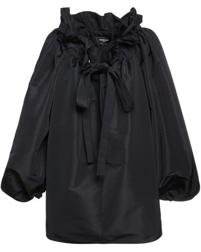 Рубашка с воротником - черная Rochas