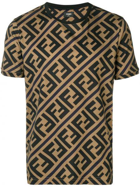 Koszula krótkie z krótkim rękawem prosto zabytkowe Fendi